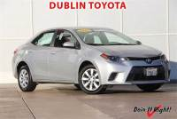 Certified Pre-Owned 2016 Toyota Corolla LE Sedan in Dublin, CA