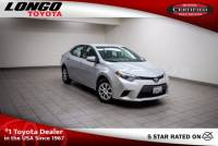 Certified Used 2015 Toyota Corolla Automatic L in El Monte