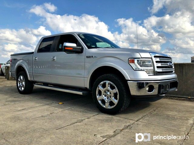 Photo Used 2013 Ford F-150 FX4, 3.5L V6 Ecoboost Engine, Aluminum Wheels, Bed Truck SuperCrew Cab For Sale San Antonio, TX