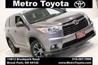 Certified Pre-Owned 2016 Toyota Highlander XLE V6 in Brook Park, OH Near Cleveland