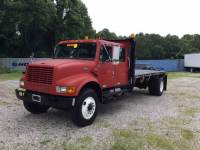 2000 International Ihc 4900 Crew Cab 16Ft Stake Body Crew Cab 16Ft Flat Bed Dt466E Diesel