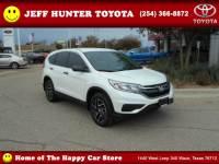Used 2016 Honda CR-V For Sale in Waco TX Serving Temple   VIN: 5J6RM3H45GL004598