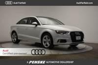 Certified Pre-Owned 2017 Audi A3 Sedan 2.0T Sedan in Fairfield, CT