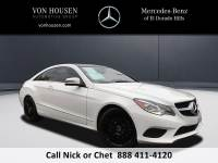 Certified Pre-Owned 2014 Mercedes-Benz E 350 Sport Rear Wheel Drive COUPE