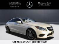 Certified Pre-Owned 2015 Mercedes-Benz E 400 Sport Rear Wheel Drive COUPE