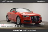 Certified Pre-Owned 2016 Audi A5 2.0T Premium Cabriolet in Fairfield, CT
