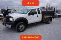 2007 Ford F-550 4wd diesel flatbed liftgate extended cab 1 owner