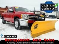 2012 Chevrolet Silverado 1500 4X4 Extra Cab V-8 Auto Fisher Plow 1-Owner 54K
