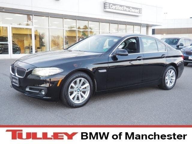 Photo 2015 Certified Used BMW 5 Series Sedan xDrive Jet Black For Sale Manchester NH  Nashua  StockB18350A