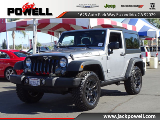 CERTIFIED PRE-OWNED 2017 JEEP WRANGLER WILLY'S WHEELER 4WD