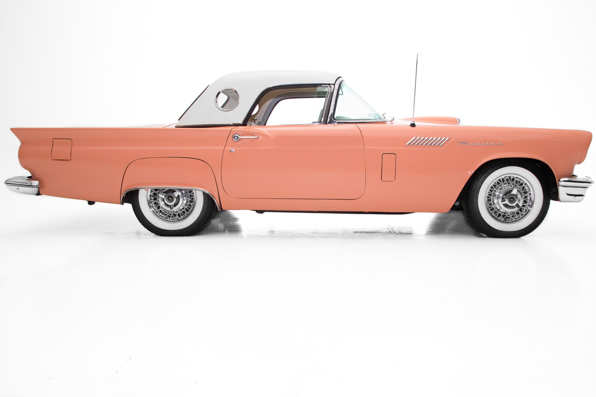 Photo 1957 Ford Thunderbird Coral Sand Frame-Off 312 Loaded