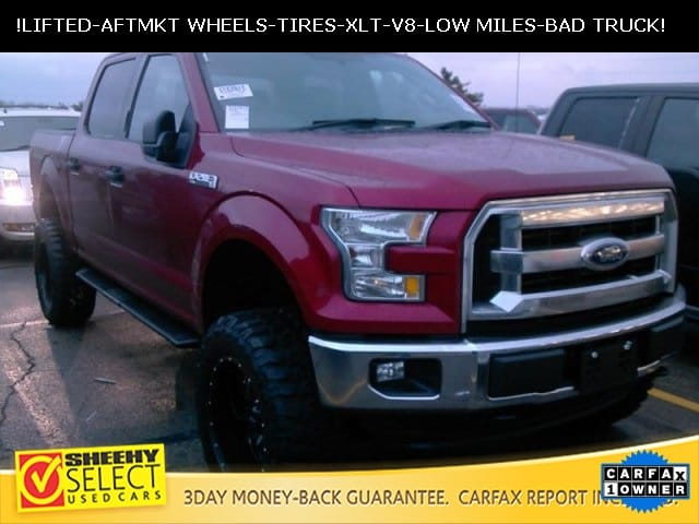 Photo 2015 Ford F-150 Lifted Crew CAB 4X4 LOW Mileage V8 Truck SuperCrew Cab V-8 cyl