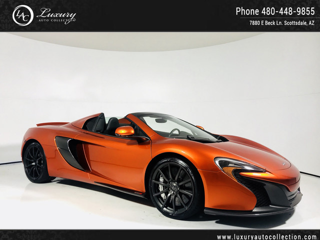 Photo 2015 McLaren 650S Spider  Carbon Fiber Ext Int  Ext  Camera  Meridian  16 Rear Wheel Drive Convertible