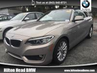 2015 BMW 2 Series 228i * CPO Warranty * One Owner * Heated Seats * D Convertible Rear-wheel Drive