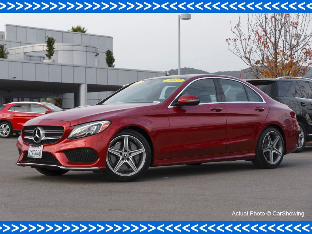 Photo Certified Pre-Owned 2017 Mercedes-Benz C-Class CERTIFIED 2017 MB C 300 w Incredible Lease Options Rear Wheel Drive Sedan