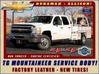2014 Chevrolet Silverado 3500HD LT Crew Cab 4x4 - SERVICE BODY - LEATHER!