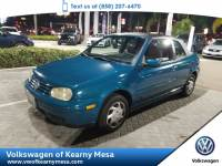 1999 Volkswagen New Cabrio GL Coupe Front Wheel Drive