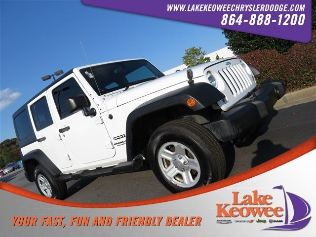 Photo Used 2014 Jeep Wrangler Unlimited Sport RHD 4WD Sport RHD Ltd Avail For Sale in Seneca, SC
