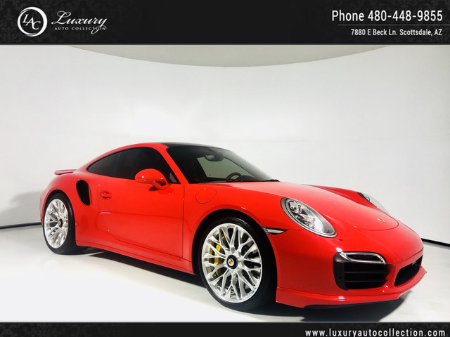 Photo 2015 Porsche 911 Turbo S  PDK  Glass Roof  Htd Seats  Red Seat Belts  16 17 14 All Wheel Drive Coupe