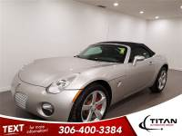 2007 Pontiac Solstice 5 Spd Manual Leather Convertible Low Kms