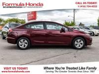 Certified Pre-Owned 2014 Honda Civic Sedan $100 PETROCAN CARD NEW YEAR'S SPECIAL! FWD Car