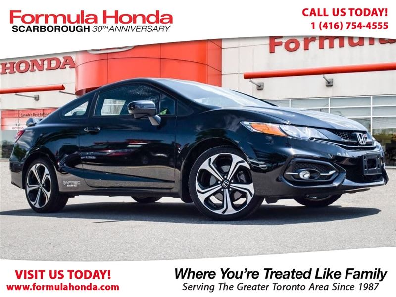 Photo Certified Pre-Owned 2015 Honda Civic Coupe 100 PETROCAN CARD NEW YEARS SPECIAL FWD Car