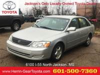 2001 Toyota Avalon 4dr Sdn XLS w/Bench Seat