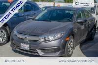 Certified Pre-Owned 2016 Honda Civic LX FWD 4D Sedan