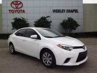 Certified Pre-Owned 2015 Toyota Corolla LE FWD 4D Sedan