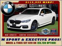 2017 BMW 750i RWD - M SPORT, EXECUTIVE & DRIVER PLUS II PKGS!