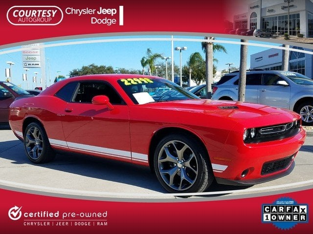 Certified 2016 Dodge Challenger SXT Coupe in Jacksonville FL