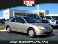 Pre-Owned 2002 Honda Civic 2dr Cpe LX Auto FWD