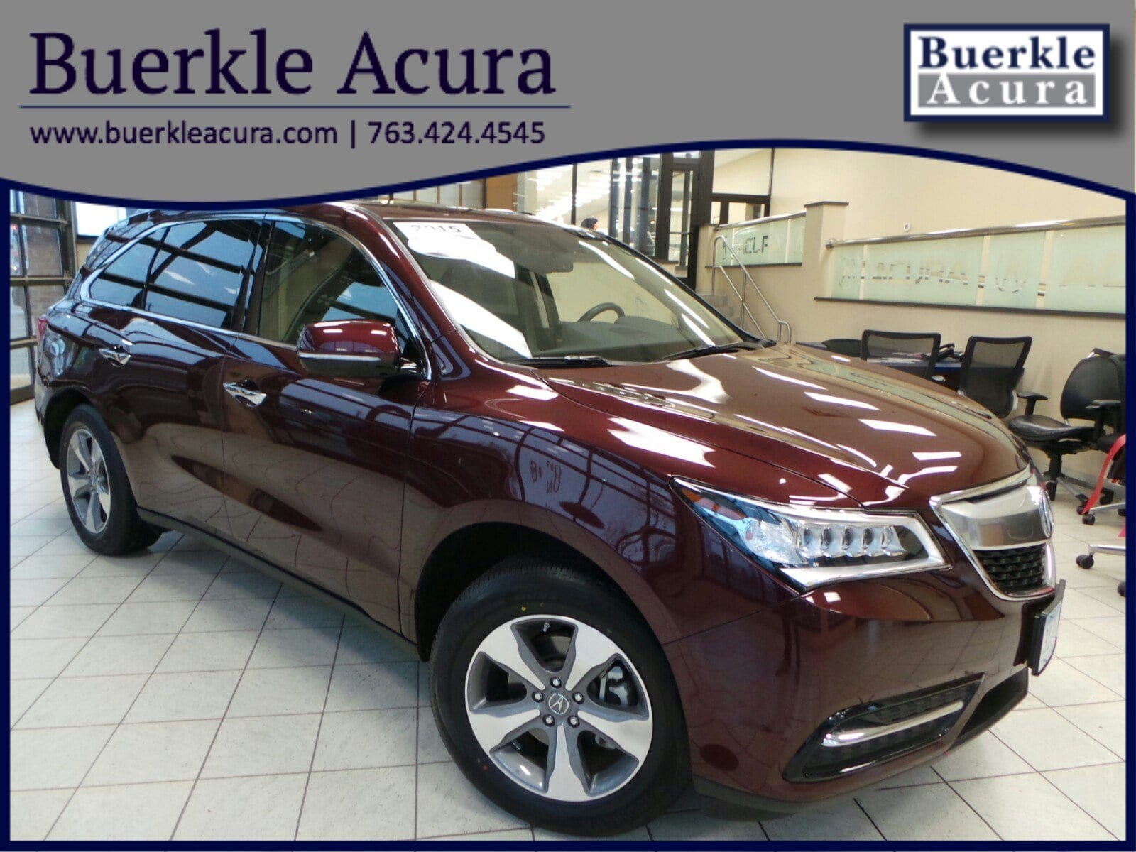 Certified Pre-Owned 2015 Acura MDX SH AWD SUV in Minneapolis, MN