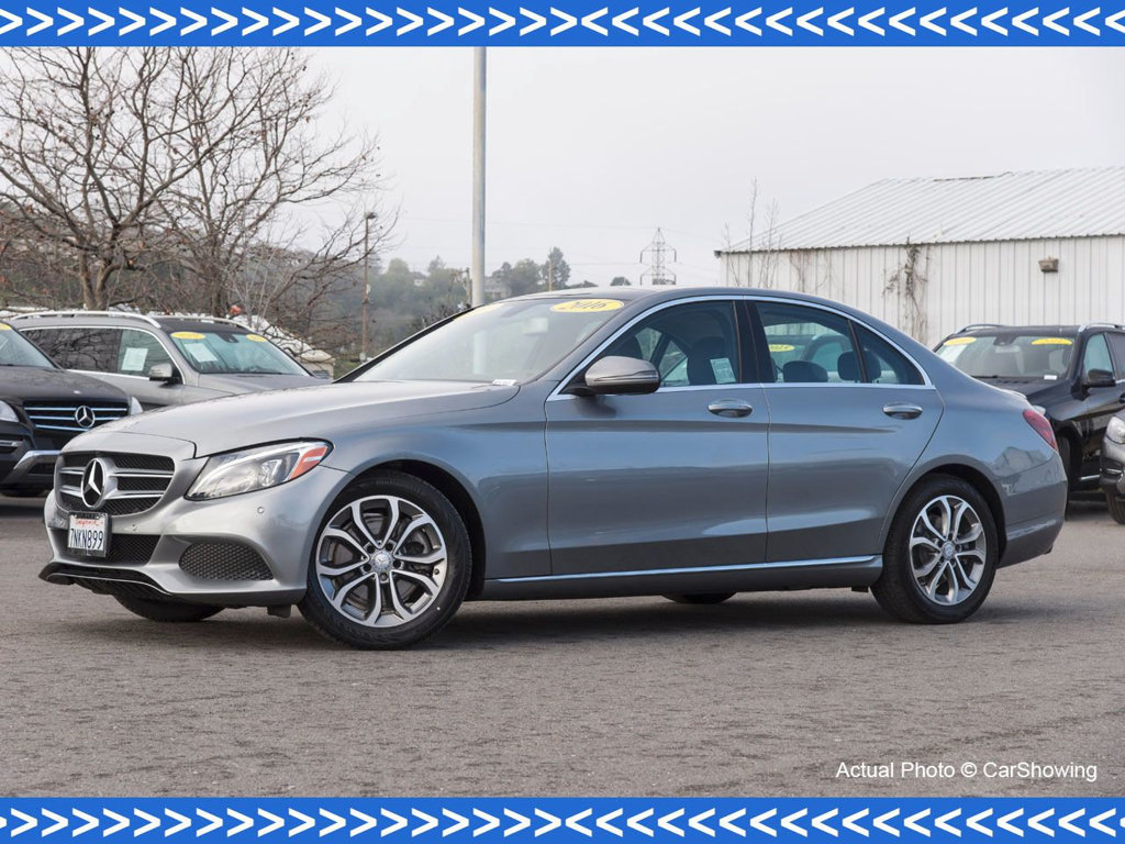 Photo Certified Pre-Owned 2016 Mercedes-Benz C-Class CERTIFIED 2016 MB C 300 w Navigation Rear Wheel Drive Sedan