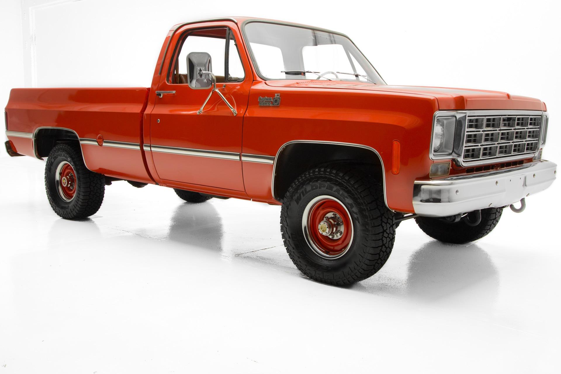 1977 Chevrolet Custom Deluxe BIG RED K10 4x4 4-spd