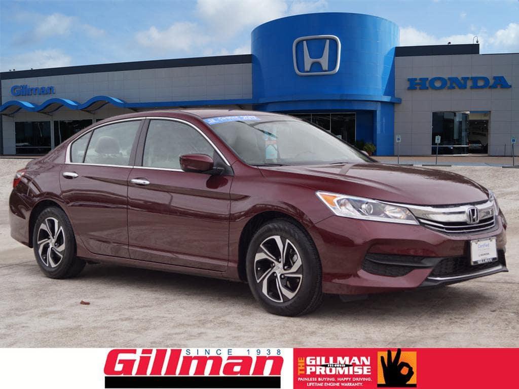 Certified Pre-Owned 2017 Honda Accord Sedan LX in Houston, TX