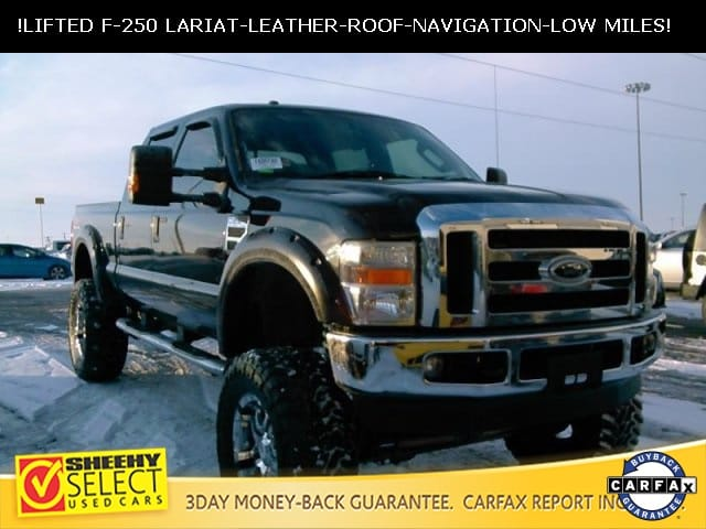 Photo 2009 Ford F-250 LOW Mileage Lifted F-250 Lariat Truck Crew Cab V-8 cyl