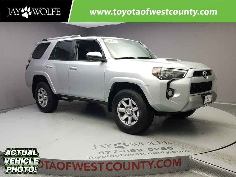 Photo Certified Pre-Owned 2015 TOYOTA 4RUNNER 4WD 4DR V6 TRAIL Four Wheel Drive Sport Utility