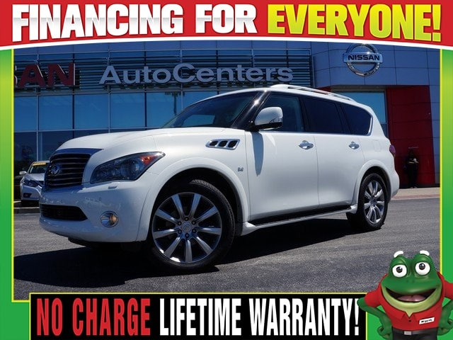 Photo Used 2014 INFINITI QX80 4WD - Navigation - Dual DVD - Moonroof For Sale Near St. Louis