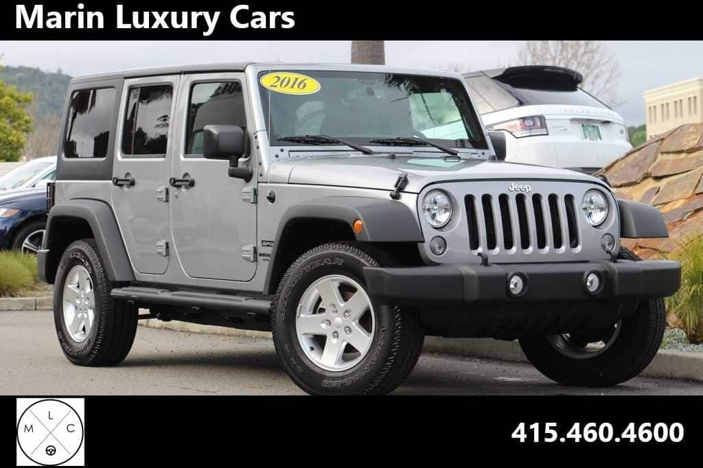 Photo Pre-Owned 2016 Jeep Wrangler JK Unlimited Sport 4X4 SUV in Corte Madera, CA