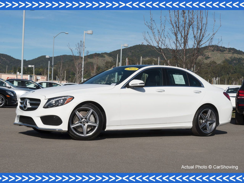 Photo Certified Pre-Owned 2018 Mercedes-Benz C-Class CERTIFIED 2018 MB C 300 w Incredible Lease Options Rear Wheel Drive Sedan