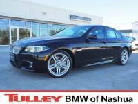 2015 Certified Used BMW 5 Series Car 4dr Sdn 550i Xdrive AWD Jet Black For Sale Manchester NH & Nashua | Stock:B18611A