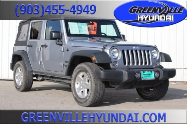 Photo Used 2015 Jeep Wrangler Unlimited Sport SUV for Sale in Greenville, TX