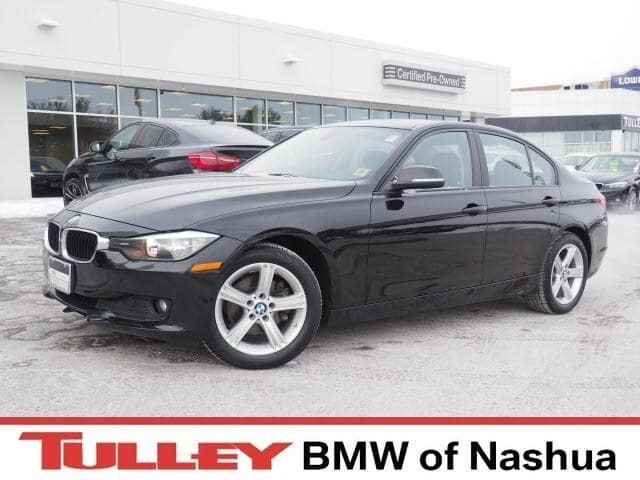 Photo 2014 Certified Used BMW 3 Series Car 4dr Sdn 320i Xdrive AWD Jet Black For Sale Manchester NH  Nashua  StockB171375A
