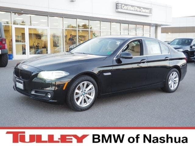 Photo 2015 Certified Used BMW 5 Series Car 4dr Sdn 528i Xdrive AWD Jet Black For Sale Manchester NH  Nashua  StockB18209B