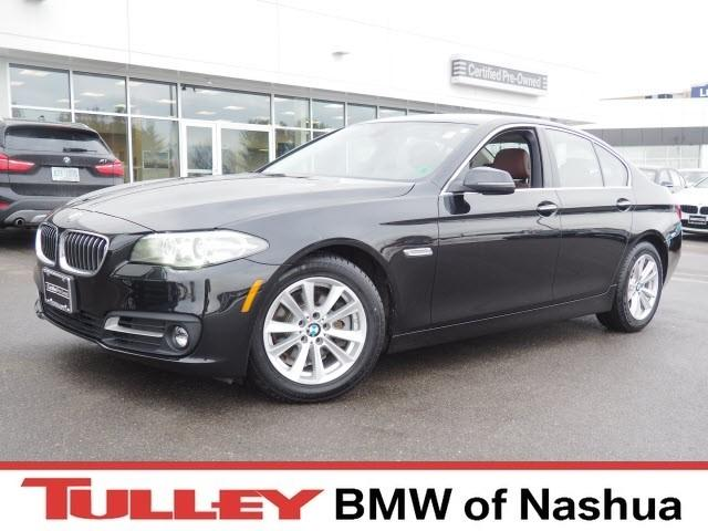 Photo 2015 Certified Used BMW 5 Series Car 4dr Sdn 528i Xdrive AWD Black Sapphire For Sale Manchester NH  Nashua  StockB17754M