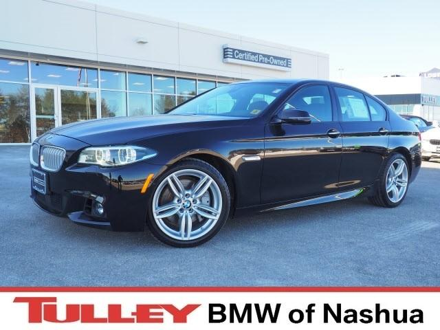 Photo 2015 Certified Used BMW 5 Series Car 4dr Sdn 550i Xdrive AWD Jet Black For Sale Manchester NH  Nashua  StockB18611A
