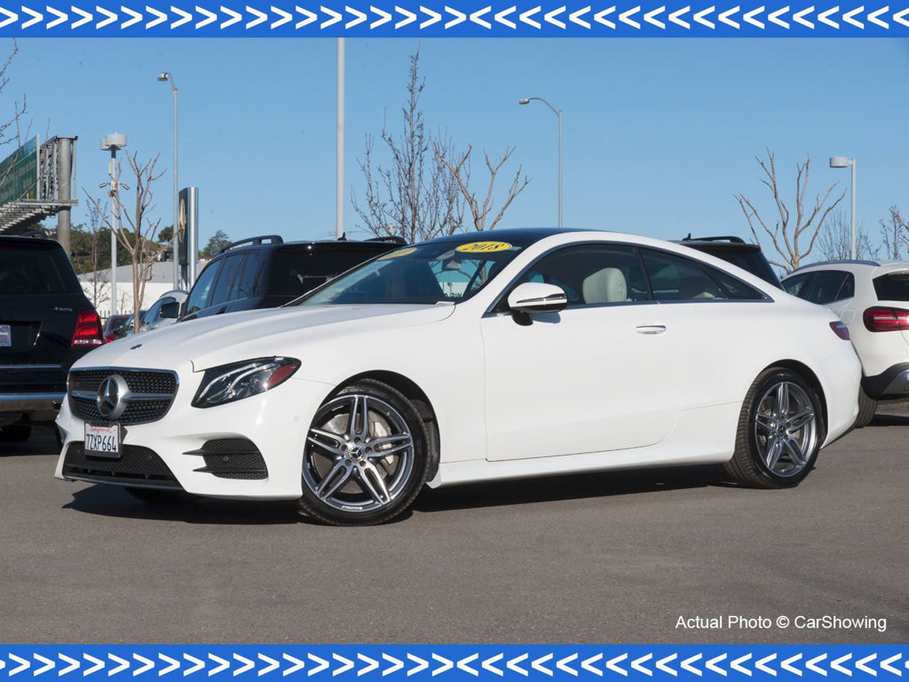 Photo Certified Pre-Owned 2018 Mercedes-Benz E-Class CERTIFIED 2018 MB E 400 Coupe w Incredible Lease Options Rear Wheel Drive Coupe