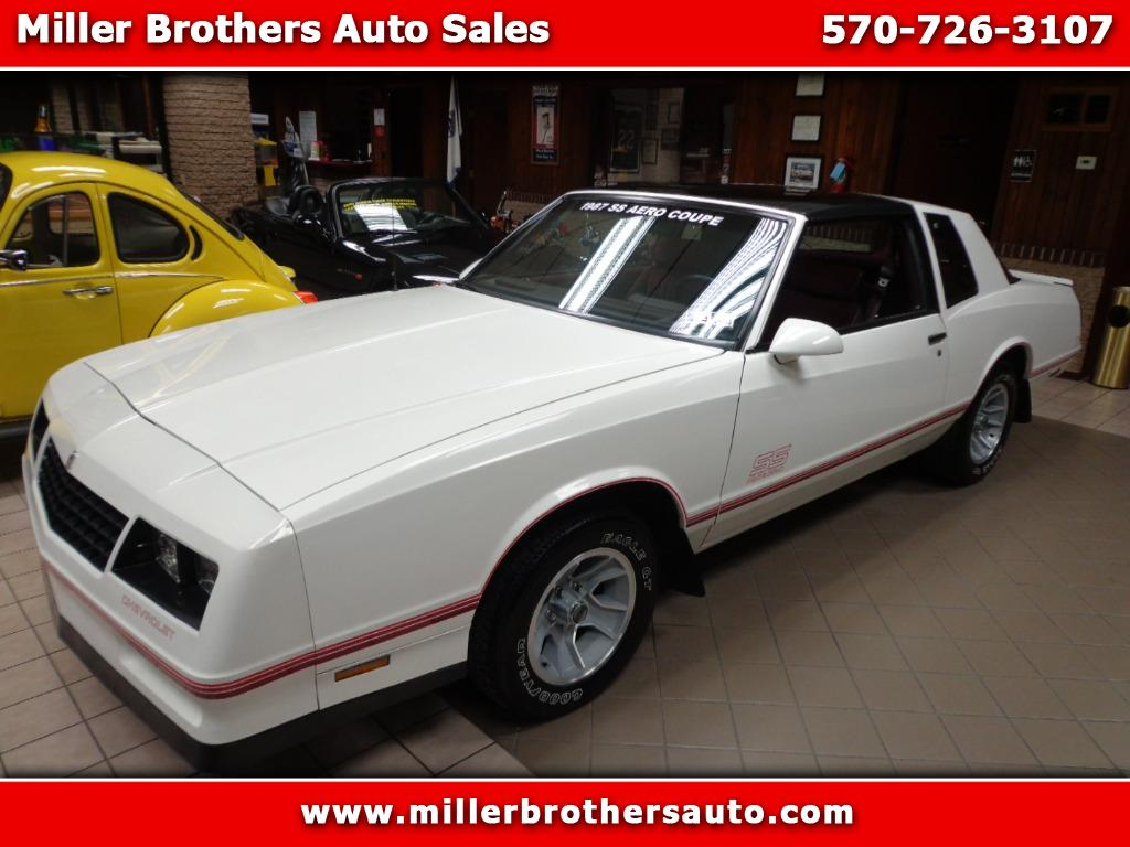 Photo 1987 Chevrolet Monte Carlo SS AERO COUPE