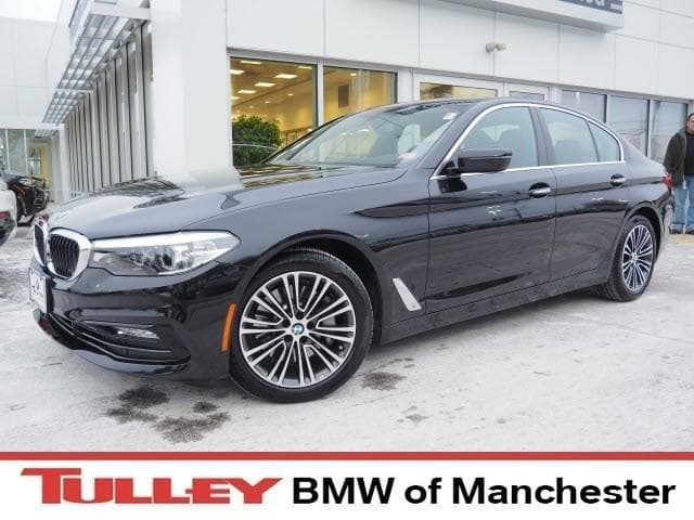 Photo 2017 Certified Used BMW 5 Series Sedan xDrive Black Sapphire For Sale Manchester NH  Nashua  StockB18434A